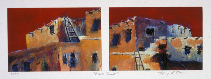 Adobe Sunset - Diptych