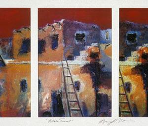 Adobe Sunset Triptych