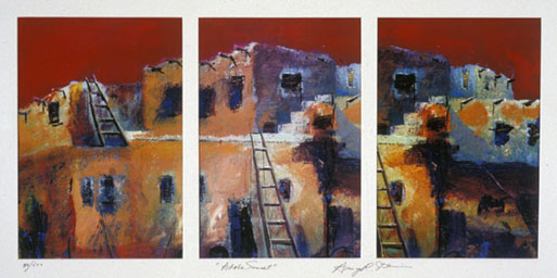 Adobe Sunset Triptych