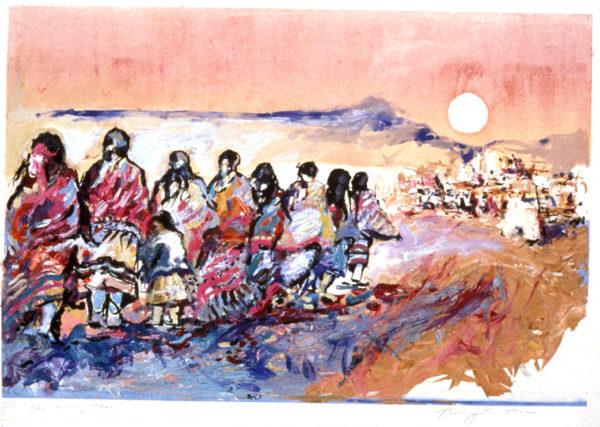 Moon over Taos Pueblo